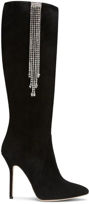 Clarissa Black Suede Tall Boots