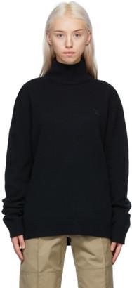 Acne Studios Black Wool Patch Turtleneck
