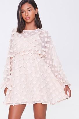 Forever 21 Clover-Embellished Fit Flare Dress