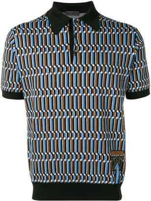 Prada jacquard logo polo shirt