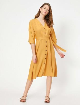 Koton Women's Sommerkleid Zum binden Casual Dress