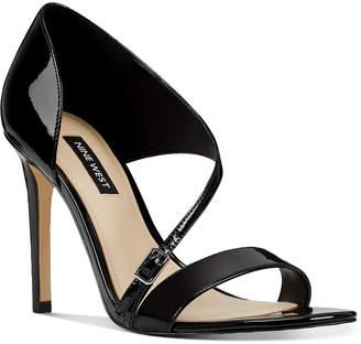 Nine West Imprint Asymmetrical Sandals Women Shoes