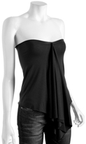black knit 'Peace Best' flounce top