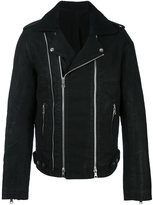 Balmain blouson biker jacket - men - Cotton/Polyester/Cupro/Wool - L