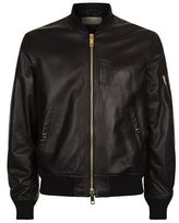 Burberry Ralleigh Leather Bomber Jacket