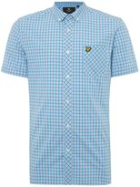 Lyle And Scott Micro Check Short Sleeve Shirt