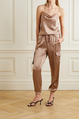 CAMI NYC The Busy Pearl-embellished Silk-blend Charmeuse Camisole
