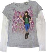 Disney Big Girls Grey White Selena Gomez Printed Long Sleeve T-Shirt 10-12