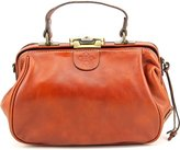 Patricia Nash Italian Leather Gracchi Framed Satchel Crossbody Handbag