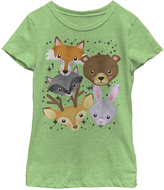 Fifth Sun Green Apple Woodland Friends Crewneck Tee - Girls