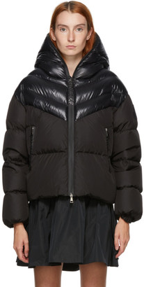 Moncler Black Down Guenioc Coat