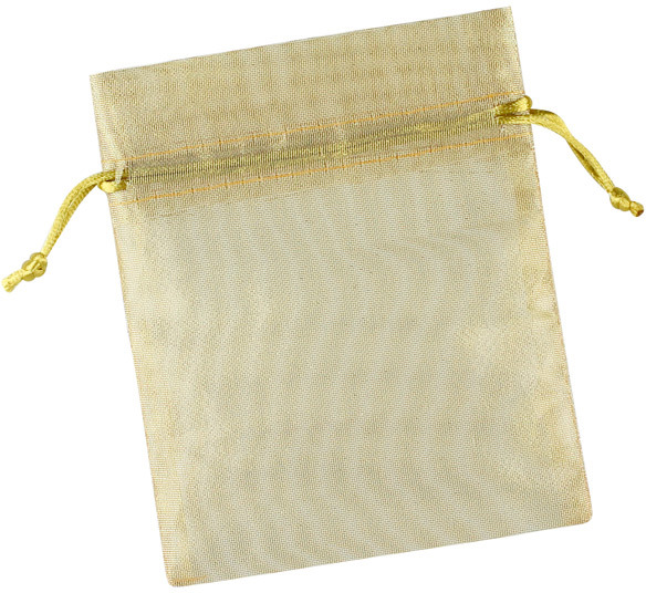 Container Store Organza Sacks Gold Pkg/3
