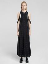 Calvin Klein Mixed Dot Print Double Layer Slip Dress