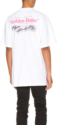 Off-White Golden Ratio Over Tee in White Multi | FWRD