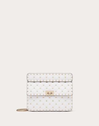 Valentino Medium Rockstud Spike Nappa Leather Bag Women Water Rose 100% Lambskin OneSize