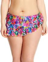 Smart & Sexy Smart+Sexy Women's Plus Size Curvy Ruffled Side-Tie Bikini Bottom Skirt
