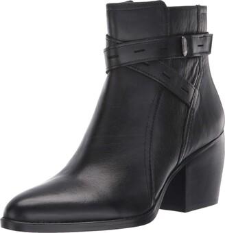 Naturalizer Womens Fenya Black Leather Booties 8 M