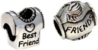 Link Up Sterling Silver Best Friend and Friend Charms