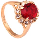 Acefeel Noble Gold Plated Oval Crystal Ring Mother's Day Gift Fashion Wild Jewelry R230 Size 6