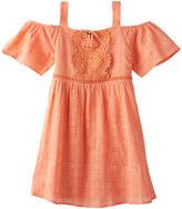 My Michelle Girls 7-16 Crochet Cold Shoulder A-Line Dress