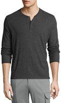 ATM Anthony Thomas Melillo Classic Long-Sleeve Henley Shirt, Charcoal