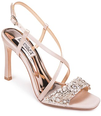 Badgley Mischka Elana Ornamented Heeled Sandal
