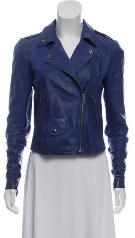 7979058a4c Cobalt Blue Leather Jacket - ShopStyle