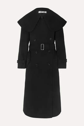 Comme des Garcons Belted Double-breasted Wool-blend Twill Coat - Black