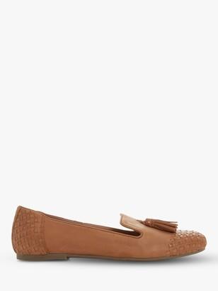 Dune Gilson Woven Detail Tassel Leather Loafers