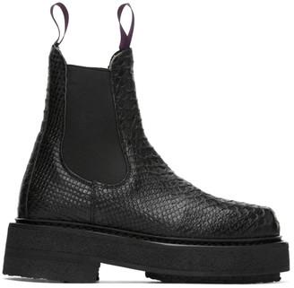 Eytys Black Croc Ortega Chelsea Boots