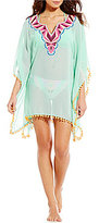 Gianni Bini Embroidered Poncho Cover-Up