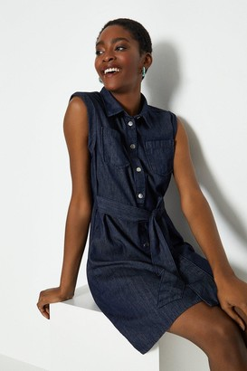 Coast Tie Front Denim Shirt Dress