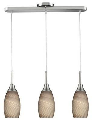 Latitude Run Centralia 3-Light Kitchen Island Bell Pendant