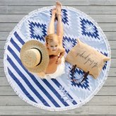 The Beach People Montauk Towel Blue White