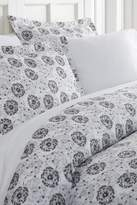 IENJOY HOME Home Spun Premium Ultra Soft 3-Piece Make a Wish Print Duvet Cover King Set - Light Gray