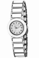 Jowissa Women's J9.017.S Ceramic Classic White Ceramic Bracelet Mother-Of-Pearl Dial Date Watch