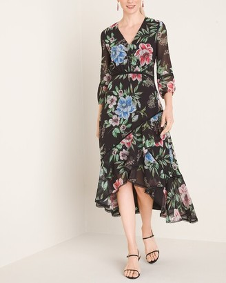 Chico's Floral Chiffon Dress