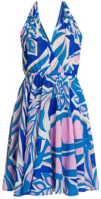 Emilio Pucci Rustic Cotton Halter Dress