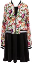 Xtraordinary Little Girls 4-6X Sleeveless Dress & Floral Bomber Jacket Set