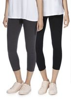 F&F 2 Pack of Cropped Leggings, Women's