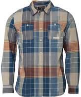 Converse Mens Utility Pocket Checked Long Sleeve Shirt Blue Steel Multi