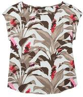 Banana Republic Tropical Print Boat-Neck Top