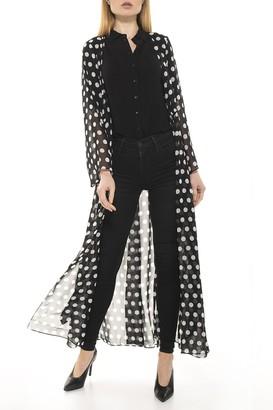 Alexia Admor Polka Dot Tie Waist Kimono