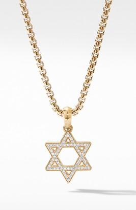 David Yurman Modern Renaissance Star of David Pendant in 18K Yellow Gold with Diamonds