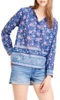 J.Crew J. CREW Cotton Voile Popover Shirt
