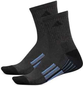 adidas Men 2-Pk. ClimaLite Mid-Crew Socks