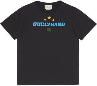 Gucci Band print oversize T-shirt