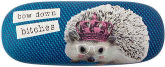 Wit! Gifts Sunglass Cases - Blue & Pink 'Bow Down' Hedgehog Hard Glasses Case