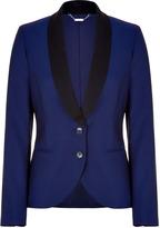 McQ Alexander McQueen Royal blue and black tuxedo blazer