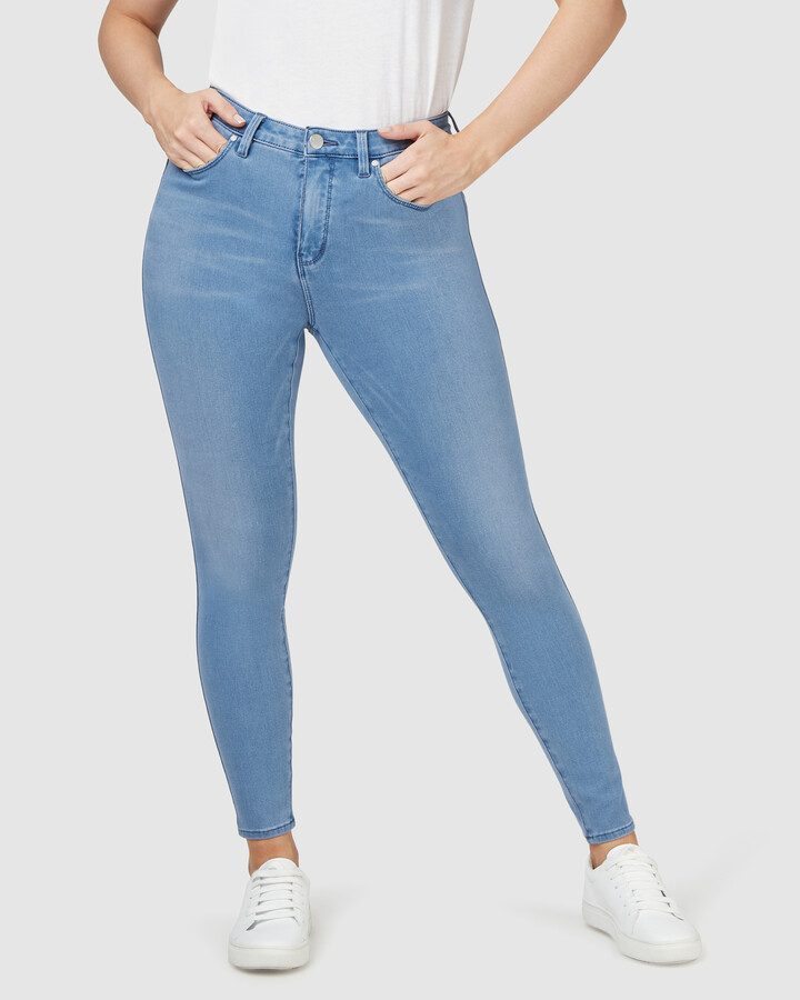 Thumbnail for your product : Jeanswest Women's Blue Skinny - Freeform 360 Contour Curve Embracer Skinny 7-8 Jeans Steel Blue - Size One Size, 16 Regular at The Iconic